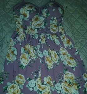 Band of Gypsies XS Adorable Mauve Floral Minidress